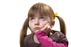 女孩哀伤的一点 库存图片