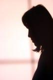 女孩哀伤的影子 免版税图库摄影