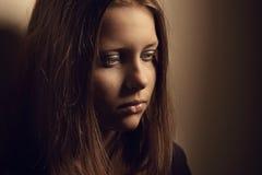 女孩哀伤青少年 库存图片