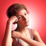 女孩哀伤青少年 向量例证