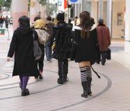 女孩哥特式组 免版税图库摄影