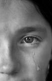 女孩哭泣 免版税库存照片