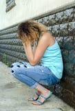 女孩哭泣 图库摄影
