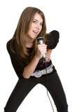 女孩唱歌青少年 库存照片