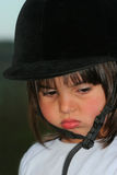 女孩喜怒无常的一点 免版税库存图片