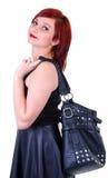 女孩喜欢大袋子 免版税库存图片