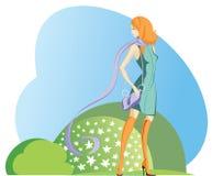 女孩围巾 免版税库存图片
