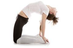 女孩图象实践的瑜伽 免版税库存照片