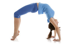 女孩图象实践的瑜伽 免版税库存图片