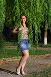 女孩在公园   免版税库存照片