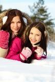 女孩在冬天 免版税库存照片