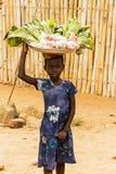 女孩在加纳 免版税库存照片