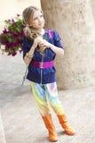 女孩在夏天 免版税图库摄影