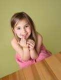 女孩在学校教室 图库摄影