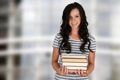 女孩在学校 免版税库存照片