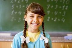 女孩在学校 免版税库存图片