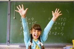 女孩在学校 图库摄影
