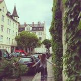 女孩在慕尼黑 库存图片