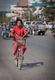 女孩在柬埔寨 图库摄影