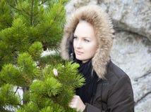 女孩在阿拉斯加 免版税库存图片