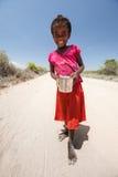 女孩在马达加斯加 库存图片