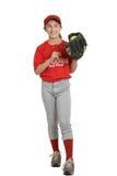 女孩垒球 免版税库存图片