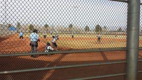女孩垒球 图库摄影