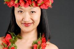 女孩夏威夷人 库存图片