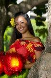 女孩夏威夷年轻人 图库摄影