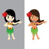 女孩夏威夷 库存图片