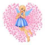 女孩天使 库存照片