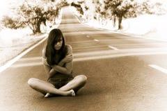 女孩失去的年轻人 图库摄影