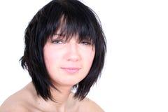 女孩头发性感粗野 免版税图库摄影