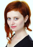 女孩头发的红色 图库摄影