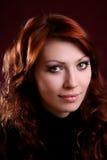 女孩头发红色性感 库存图片