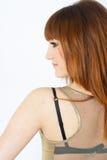 女孩头发红色 图库摄影