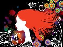 女孩头发红色 向量例证