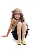 女孩姿势碰撞的年轻人 图库摄影