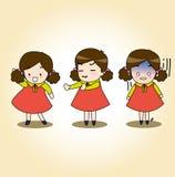 女孩字符 免版税库存照片
