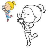 女孩字符 免版税图库摄影