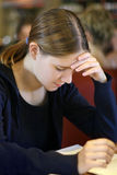 女孩学习 免版税库存图片