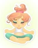 女孩实践的瑜伽 皇族释放例证