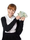 女孩富有 免版税库存图片