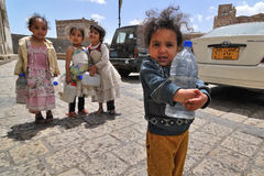 女孩小也门 免版税库存照片