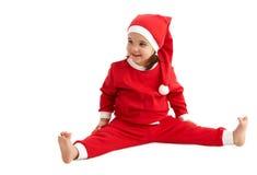 女孩小圣诞老人 库存图片