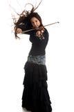 女孩小提琴 库存照片