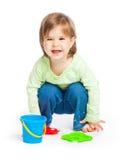 女孩小的玩具 库存图片