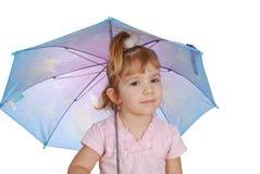 女孩少许伞 免版税库存照片