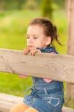 女孩少许公园 免版税库存图片