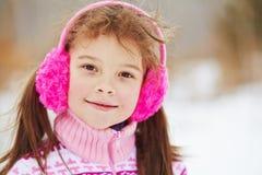 女孩少许冬天 户外子项 库存图片